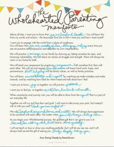 parenting manifesto