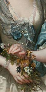franz van der mijn_portrait of a lady_detail