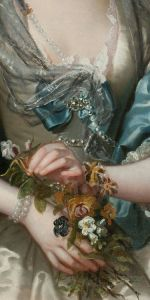 franz van der mijn_portrait of a lady_detail