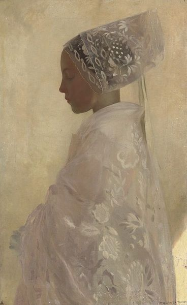 A Maiden in Contemplation by Gaston La Tour