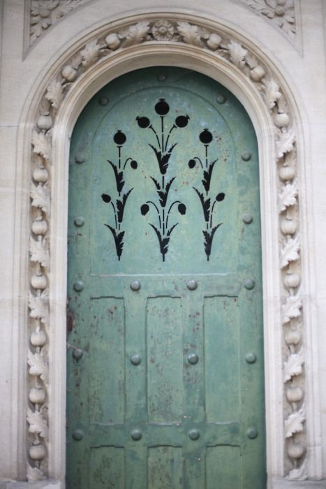 arched blue door