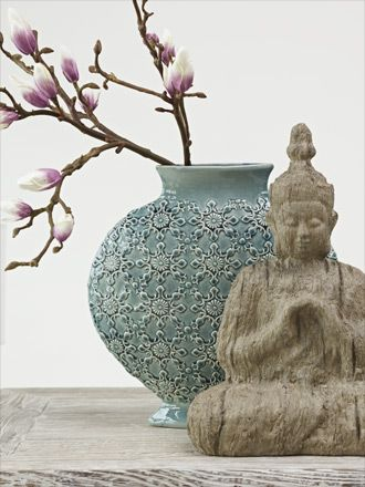 buddha and vase