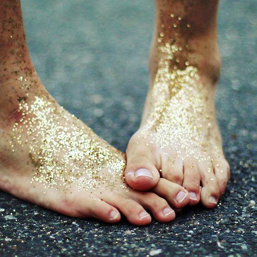 glitter feet
