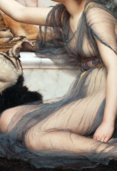 John William Godward,Mischief and Repose_detail