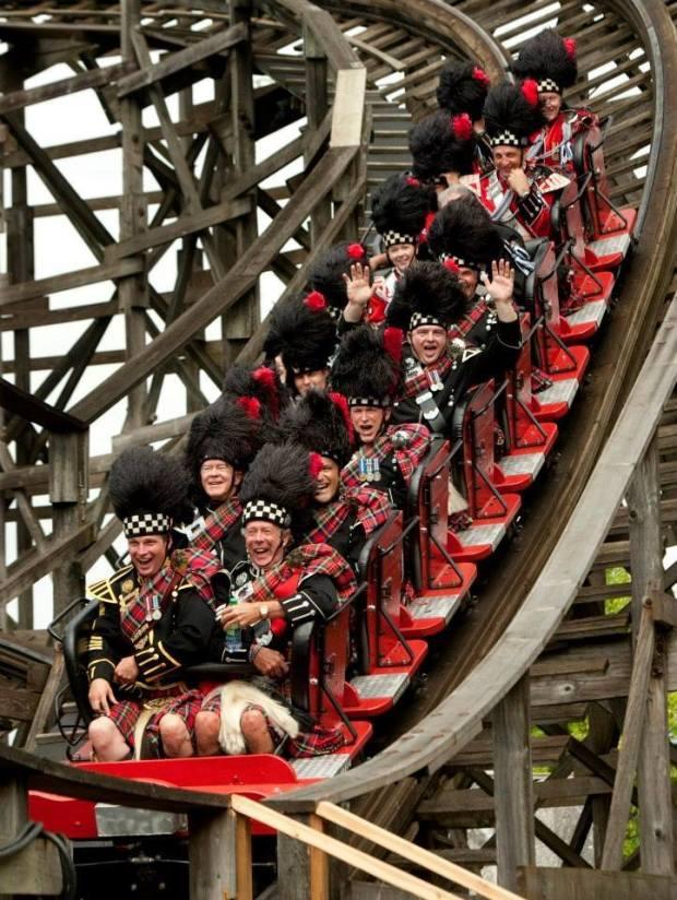kilts on rollercoaster
