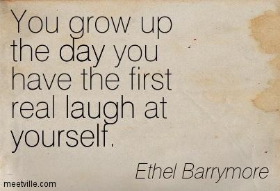 laugh at self