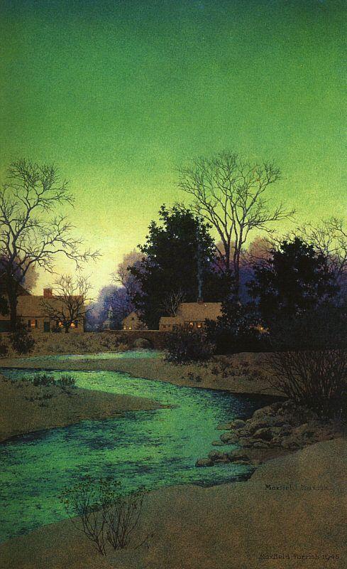 Maxfield Parrish_Lull Brook Winter