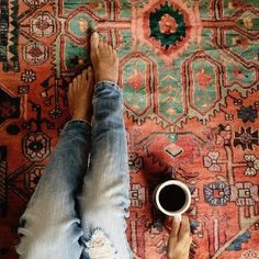 sitting on rug