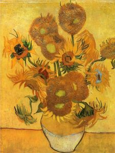 Vase with Fifteen Sunflowers_Vincent van Gogh