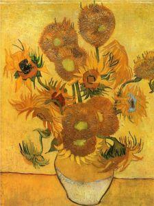 Vase with Fifteen Sunflowers_Vincent van Gogh