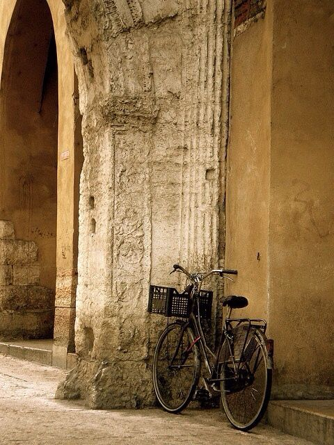 ancient architecure_bike
