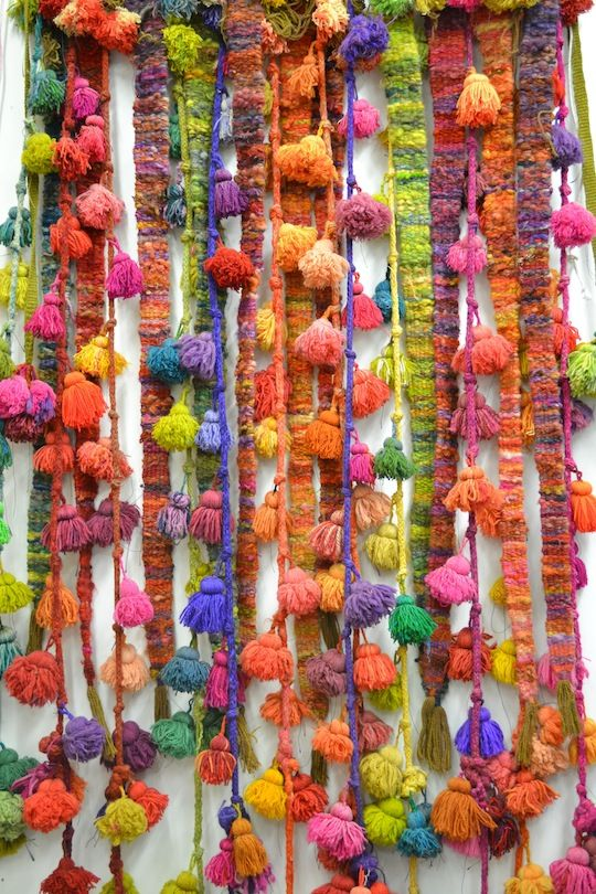 colorful tassles