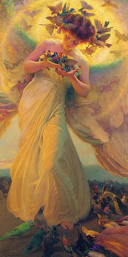 Franz Dvorak, The Angel of the Birds by sofi01