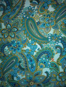 green blue paisley