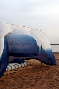 Installation d'Aboubakar Fofana/Tente moustiquaire/Fleuve Niger/Mali