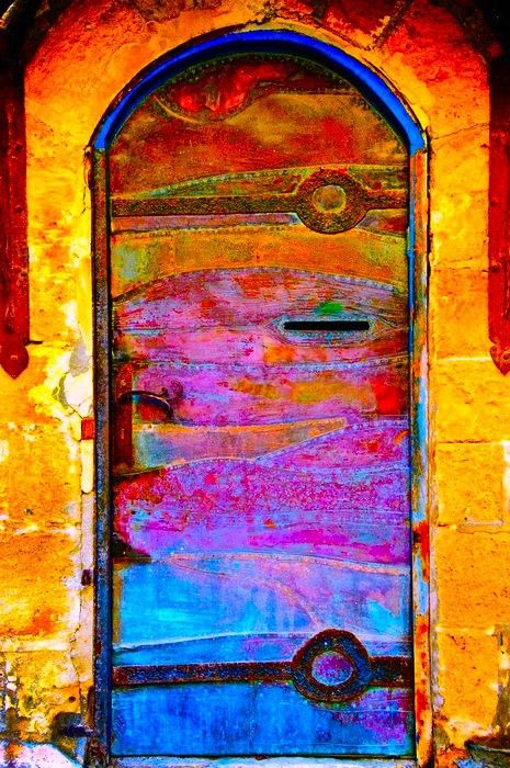 multicolor door