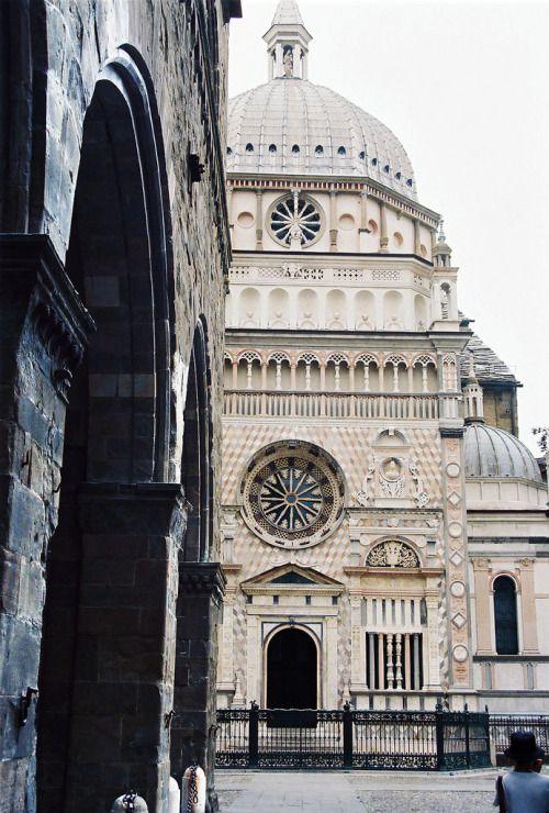 Piazza Vecchia and St. M. Maggiore, Lombardy, Italy