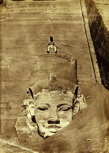 Ra, Egyptian sun god, Temple of Ramses II, Abu Simbel, Egypt