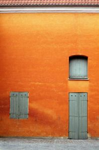tangerine wall