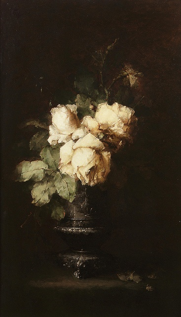 White Roses by Margaretha Roosenboom