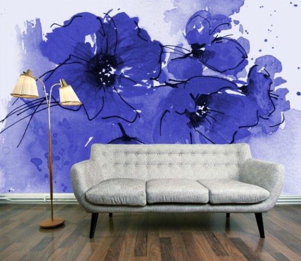 bold flower wall