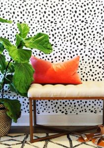 bold speckled walls