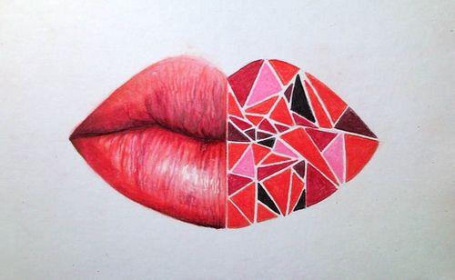 crystalizing lips