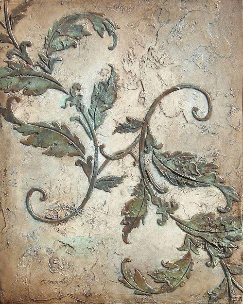 delicate plasterwork