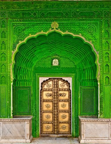 Door of Ganesh in City Palace - Jaipur, India_Incredible Pictures