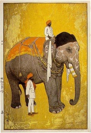 Field Of Vision_Hiroshi Yoshida. elephant, 1931