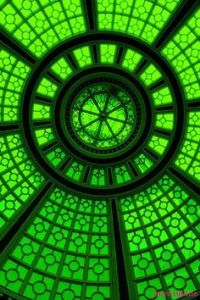 green glass dome