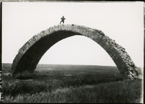 man on arch