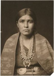 NAVAJO WOMAN, 1907 Squash blossom necklace