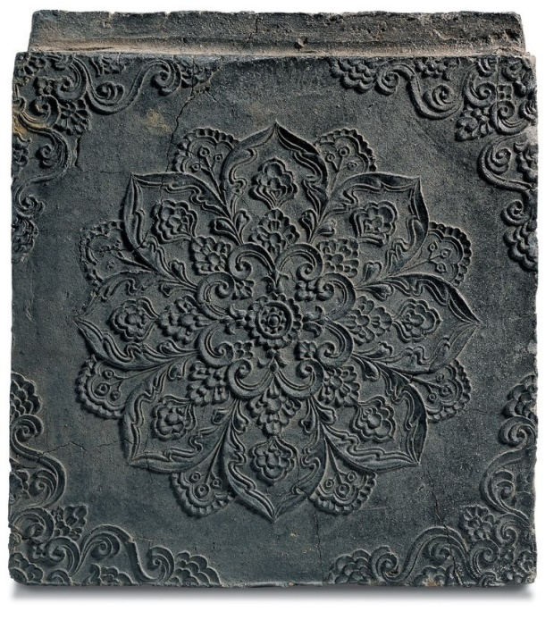ornate gray tile