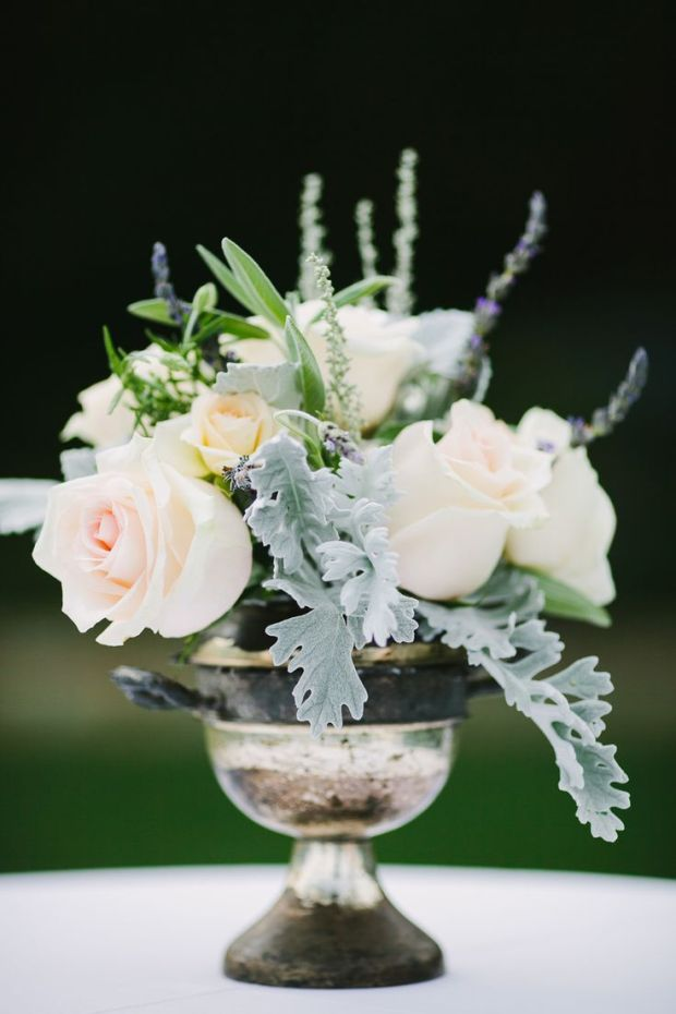 sage and rose bouquet
