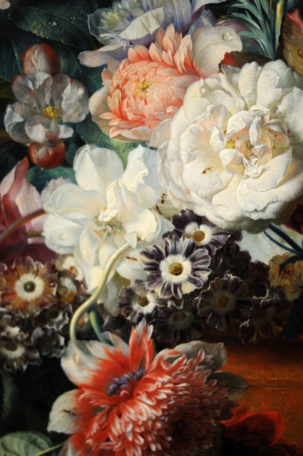 Vase of Flowers (Detail) by Jan van Huysum