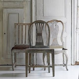 weathered chairs