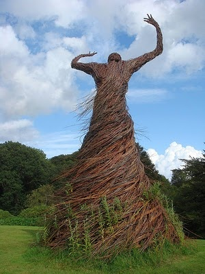 Willow Lady by Trevor Leat In the garden of the National Museum of Costume, near Dumfries