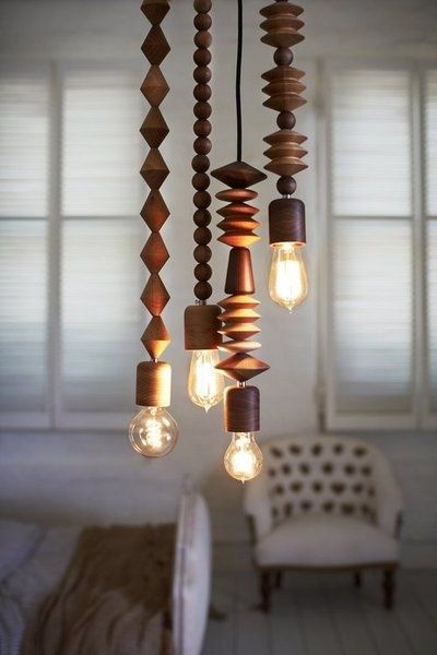 wood beads and bulbs