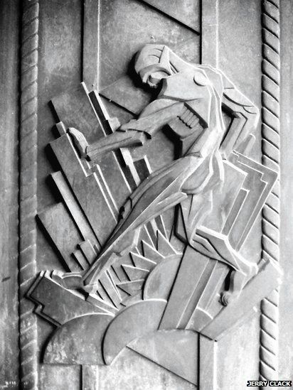 Art deco art at Battersea Power Station in London