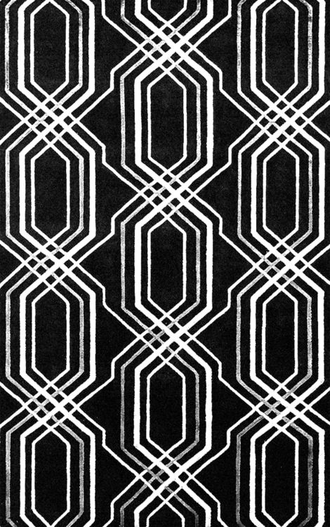 Black & white pattern with bold repetition