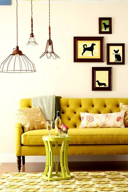 cozy yellow room