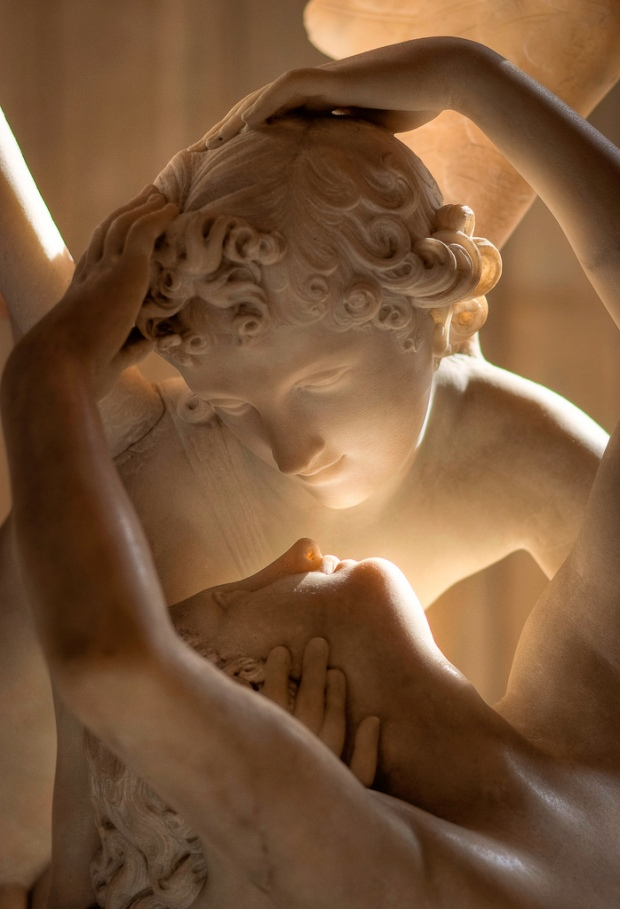 "Detail from Canova's ""Psyche Revived by Cupid's Kiss"", Musée du Louvre"