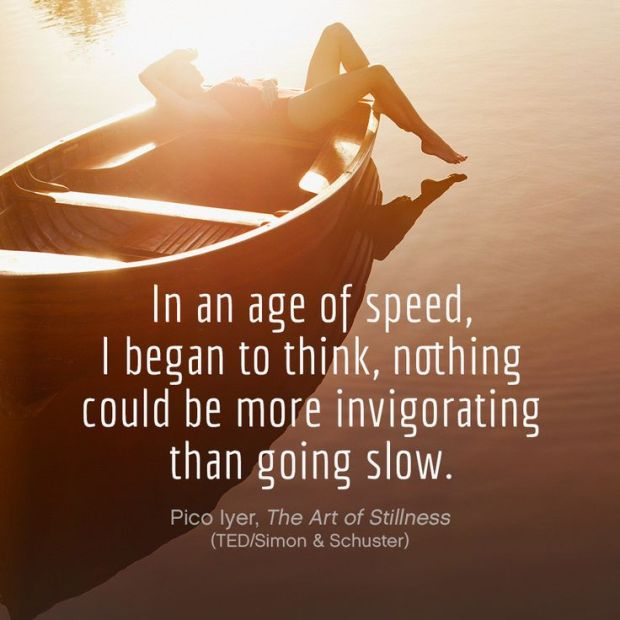 going slow