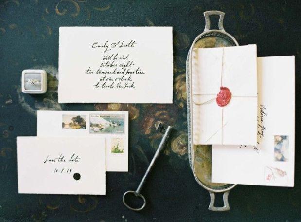 moody wedding invitations by jenhuangartdotcom