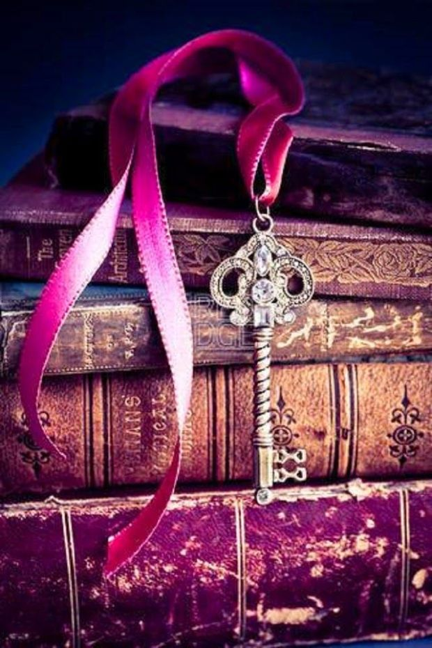 old books and key