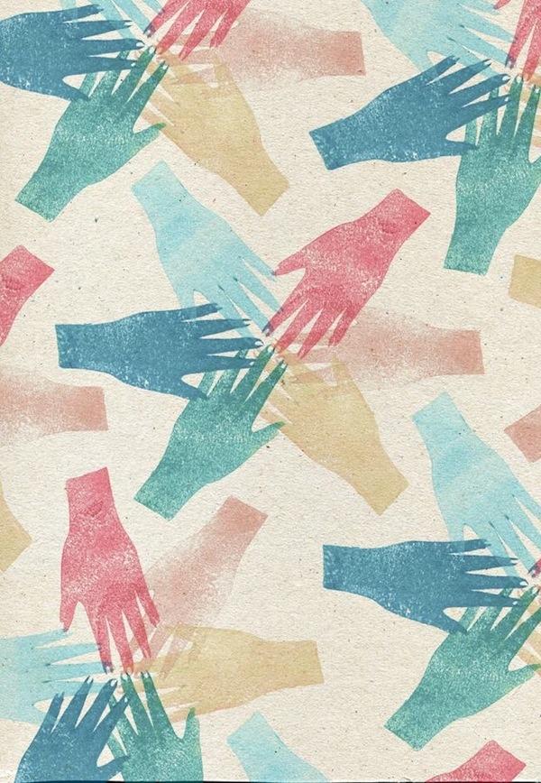 pastel hands print