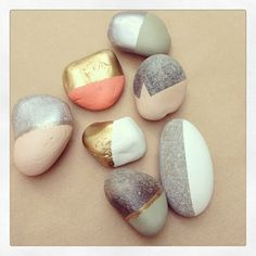 pastel painted rocks