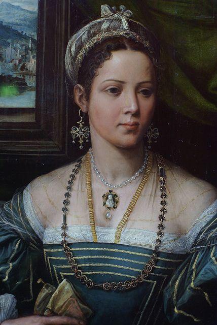 Peter de Kempeneer, Bildnis einer Dame, Detail (Portrait of a Lady, detail)