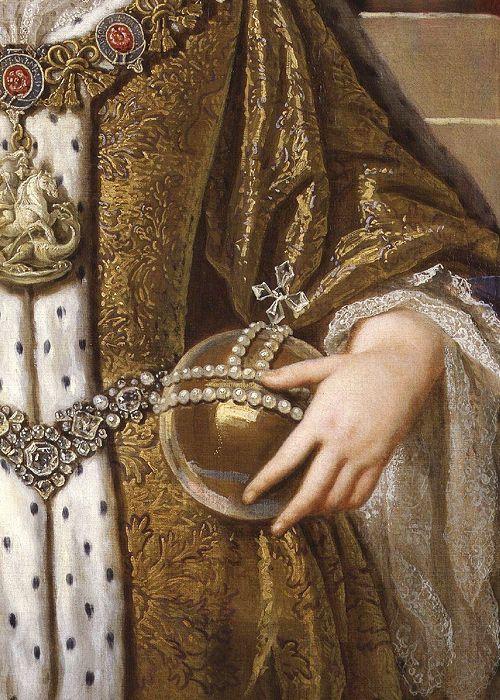 Portrait of Queen Anne (detail) by John Closterman